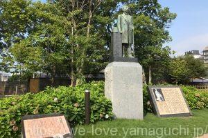 井上馨の銅像
